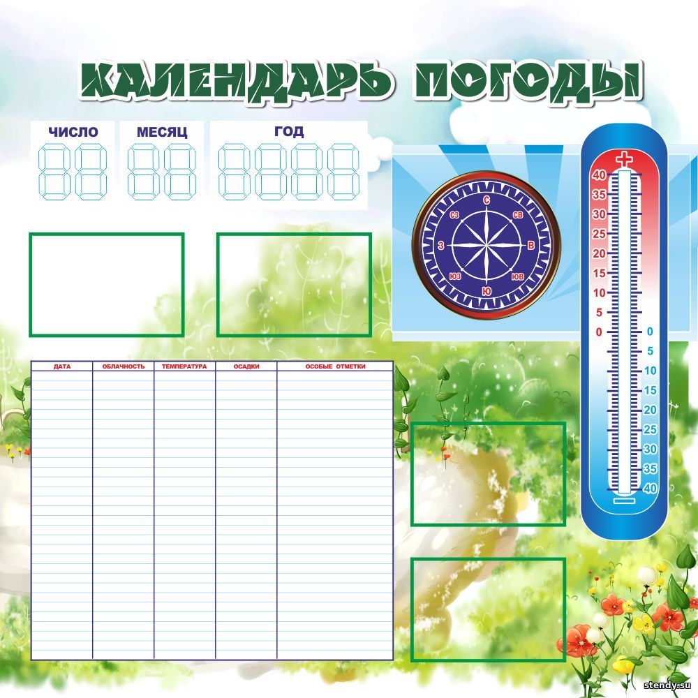 стенд маркерный, календарь погоды, стенды в начальную школу, стенд в начальные классы