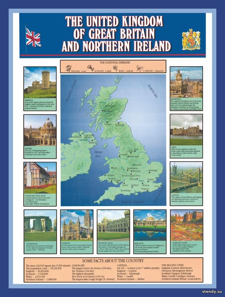 стенд по английскому языку, стенд английский язык, стенд Великобритания и северная ирландия