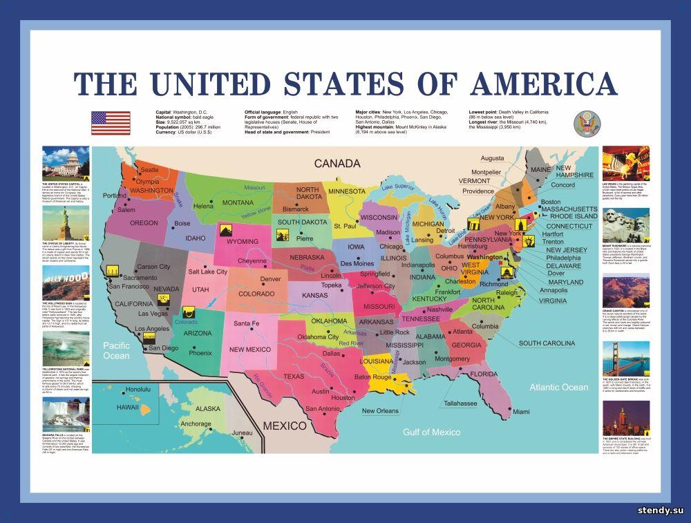 стенд по английскому языку, стенд английский язык, стенд сша, стенд соединенные штаты америки
