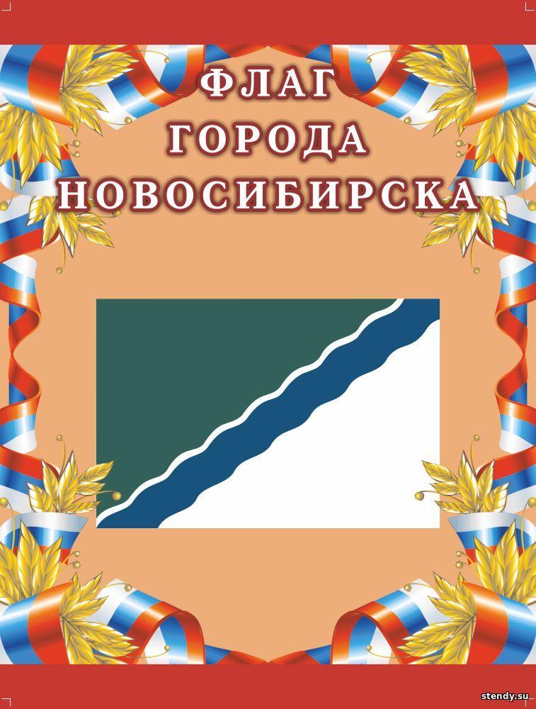 флаг новосибирска, флаг нск, стенд государственная символика, стенд государственная символика нашей родины, стенд символы нашей родины, стенд символы страны, символика нашей родины, стенд в холл школы